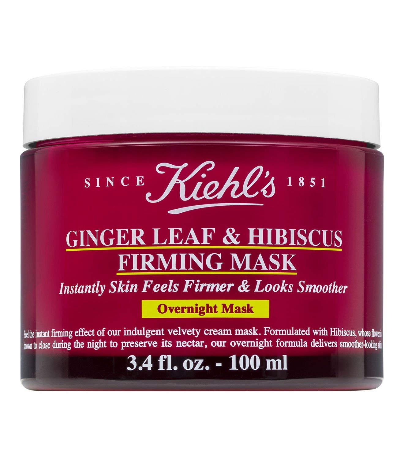 Kiehl's Ginger Leaf & Hibiscus Firming Overnight Face Mask 3.4oz (100ml)の画像