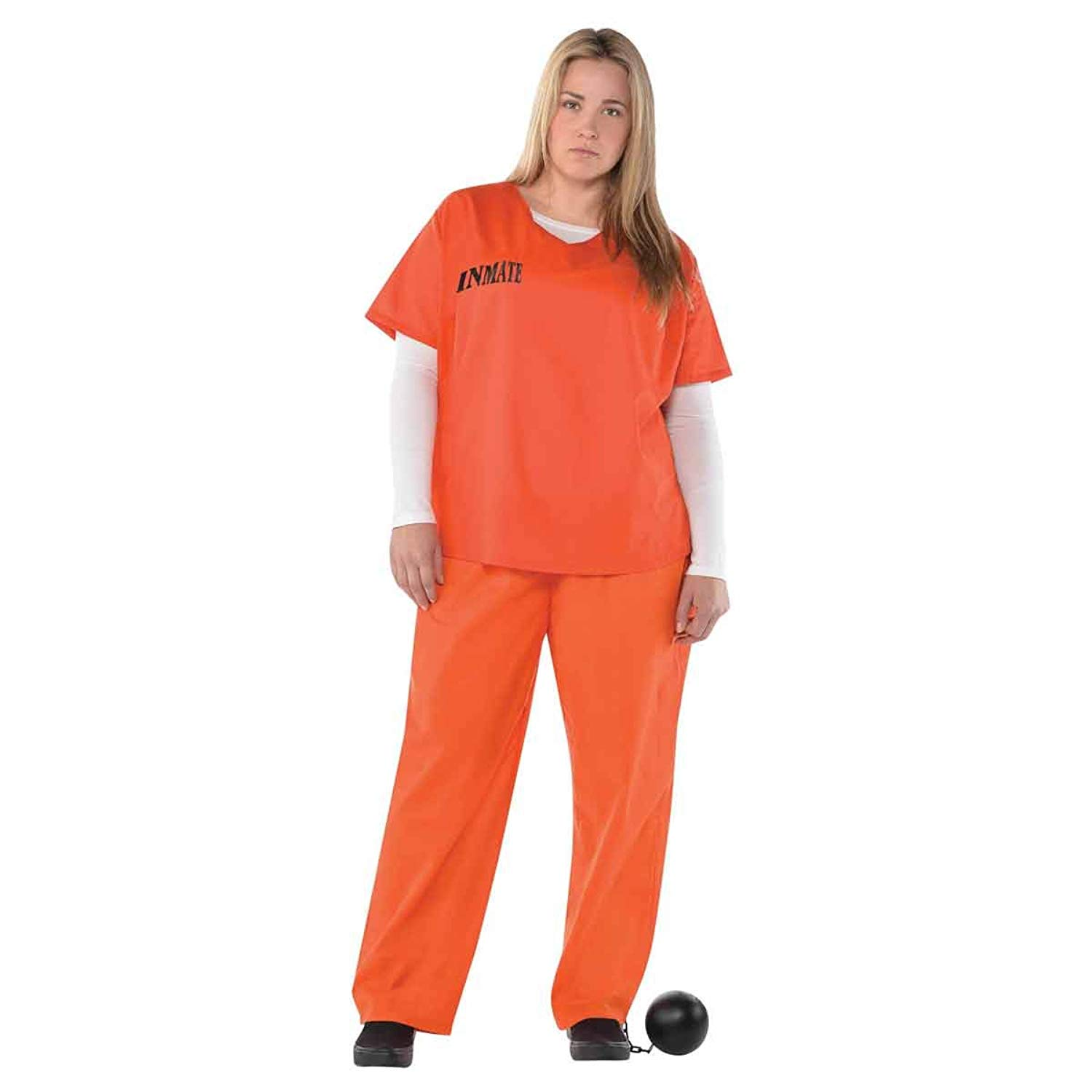 Christys Dress Up Adults Orange Inmate Costumeの画像