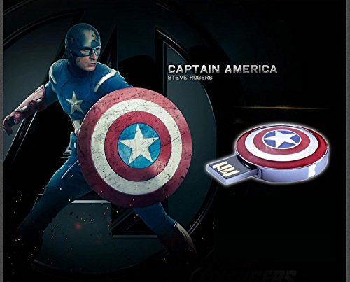 Marvel Avengers USB 64GB Flash Drive Avengers Shield of Captain Americaの画像