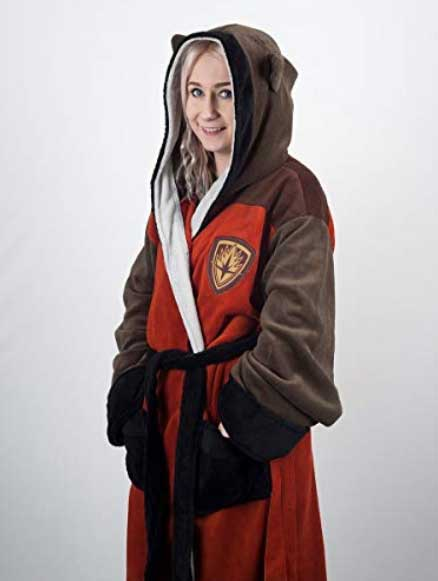 Guardians of the Galaxy Fleece Bathrobe Rocket Racoon Groovy Marvel Comicsの画像