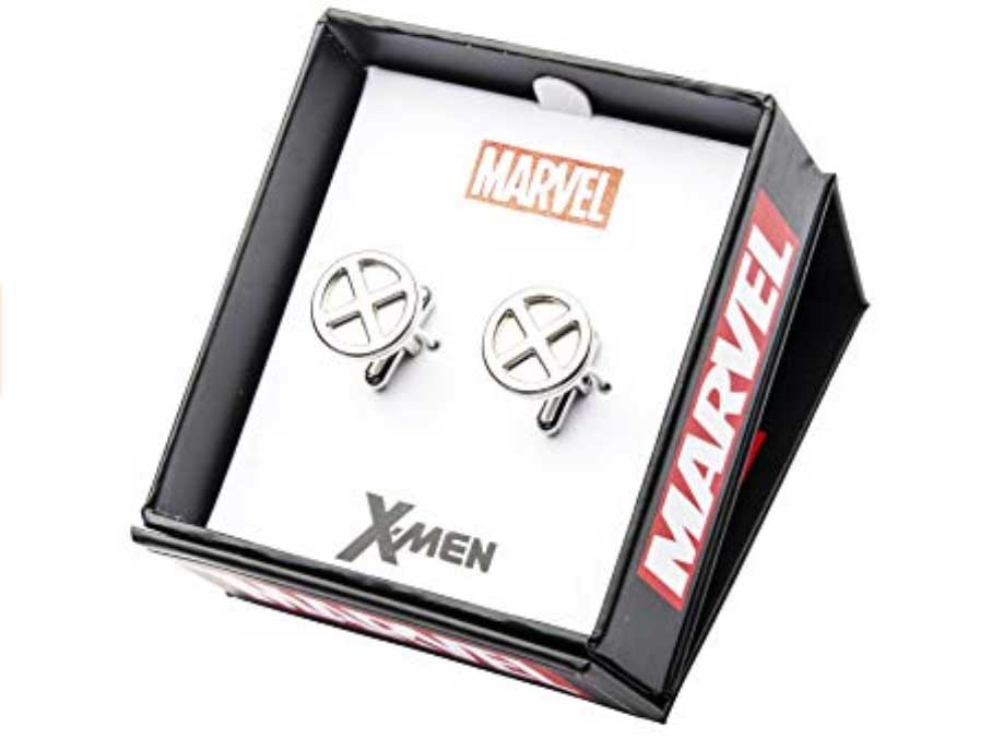 Marvel Comics Men's X-Men Logo Stainless Steel Cufflinks Stud Earringsの画像