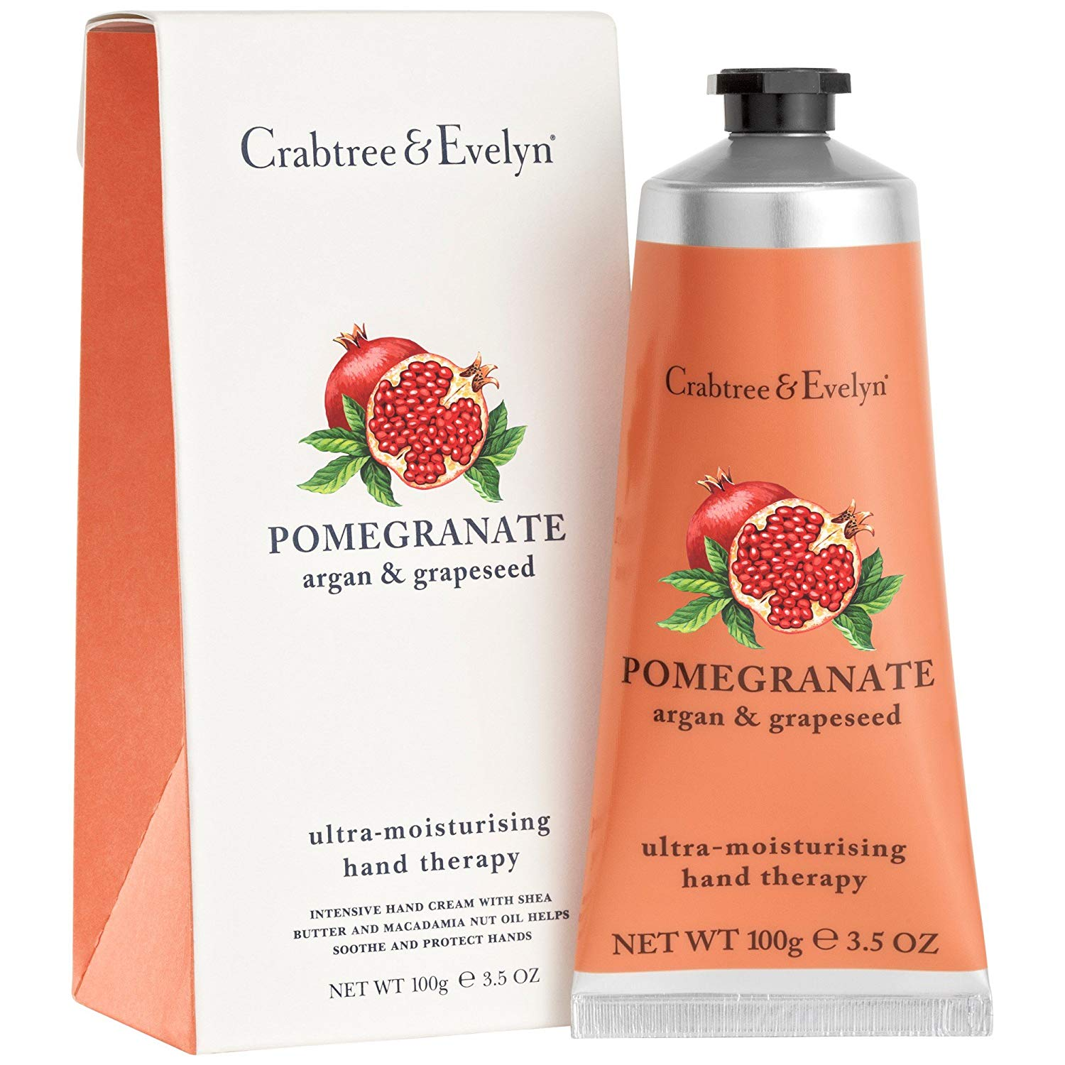 Crabtree & Evelyn Pomegranate Hand Therapy Cream 100gの画像